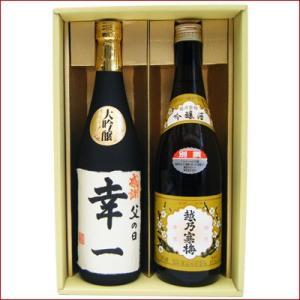 名入れ 日本酒 越乃寒梅 越路吹雪 ギフト セット 720ml 2本 名前入り 大吟醸+越乃寒梅 別撰 吟醸酒 令和 niigatameisyuoukoku