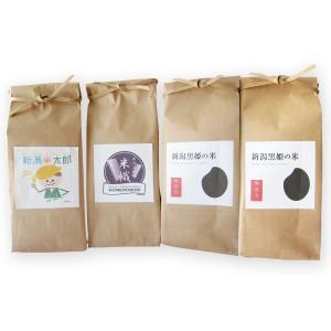 【お中元・贈り物に】新潟の米3種食べ比べ900g4個ギフトセット|niigatanokome