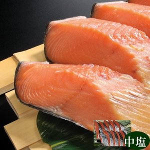 きー13 本造り鮭中塩(10切) 原料:北海道産 天然 新潟たけうち