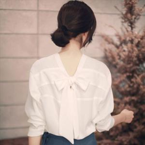 ブラウス 袖なし シャツ 前後ろ無しトップス レディース 女性用 シフォンブラウス かわいい 薄手 春夏秋 アイボリー Sサイズ 即納 ハロウィン|niitas