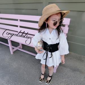 ドレス ブラウス 2点セット コルセット風ベルト シャツ 令嬢テイスト 子供服 子供用 女の子用 キッズ ドレス 結婚式 入園式 卒園式 発表会 niitas