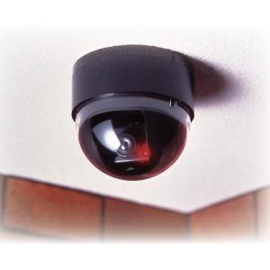 ドーム型防犯ダミーカメラ CDSセンサー/LEDランプ付き (防犯対策) nijiiromarket