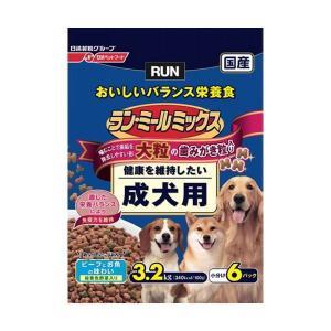 日清ペットフード ランミールミックス大粒成犬用 3.2Kg 〔ペット用品〕|nijiiromarket