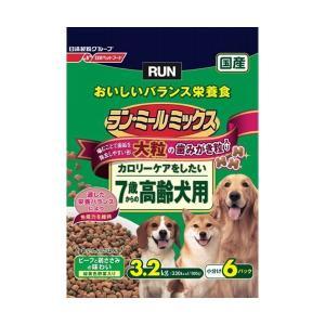 日清ペットフード ランミールミックス大粒7歳高齢犬用3.2Kg 〔ペット用品〕|nijiiromarket