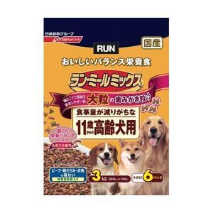 日清ペットフード ランミールミックス大粒11歳高齢犬用 3Kg 〔ペット用品〕|nijiiromarket