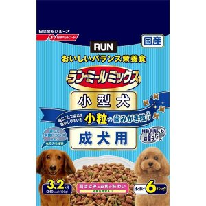 日清ペットフード ランミールミックス小粒成犬用 3.2Kg 〔ペット用品〕|nijiiromarket