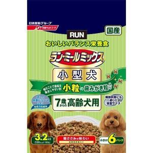 日清ペットフード ランミールミックス小粒7歳高齢犬 3.2Kg 〔ペット用品〕|nijiiromarket
