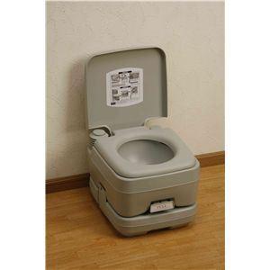 本格派ポータブル水洗トイレ 10リットル|nijiiromarket