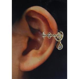 新しい耳飾り「イヤークリップ」アンティーク調タイプ/ゴールド|nijiiromarket