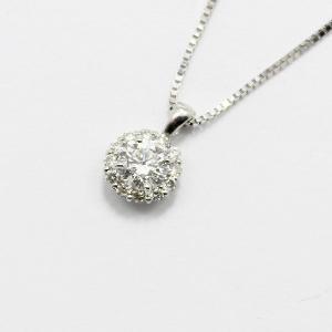 18金ホワイトゴールド0.2ctダイヤモンドペンダント/ネックレス〔代引不可〕|nijiiromarket