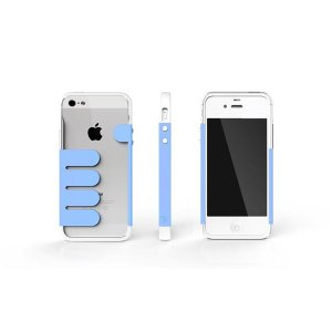 HandHold ホワイト/ブルー FB102-WHBL iPhone5用ケース|nijiiromarket