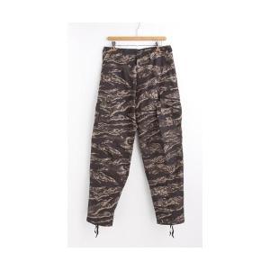 アメリカ軍 BDU カーゴパンツ/迷彩服パンツ 〔XLサイズ〕 リップストップ YN521007 ブラックタイガー 〔レプリカ〕|nijiiromarket
