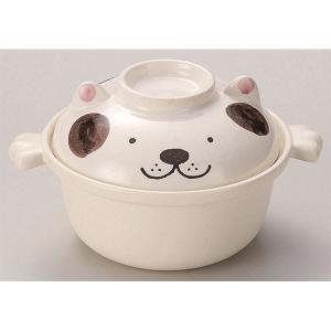 犬型 1人用鍋/調理器具 〔ブラウン 178×225×125mm〕 900ml 耐熱陶器 『ワンちゃんひとり鍋』 〔キッチン 台所〕|nijiiromarket