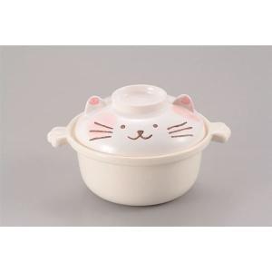 猫型 1人用鍋/調理器具 〔178×225×125mm〕 900ml 耐熱陶器 『ねこちゃんのひとり鍋』 〔キッチン 台所〕|nijiiromarket