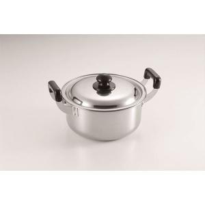 大型鍋/調理器具 〔約220×280×147mm〕 約3.0L ステンレス 『たらふく』 〔キッチン 台所〕|nijiiromarket