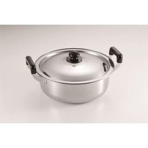 大型鍋/調理器具 〔約290×340×157mm〕 約5.2L ステンレス 『たらふく』 〔キッチン 台所〕|nijiiromarket