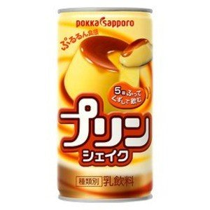 〔まとめ買い〕ポッカサッポロ プリンシェイク 缶 190g 30本入り(1ケース)|nijiiromarket