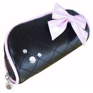 メガネケース ブラック リボンシリーズ 〔2個セット〕|nijiiromarket