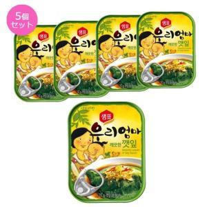 〔韓国食品・おかず缶詰〕センピョお母さんの味「エゴマの葉キムチさっぱり味」5個セット nijiiromarket