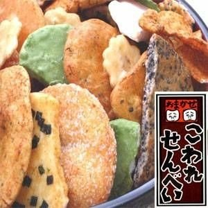 〔訳あり〕草加・おまかせ割れせんべい(煎餅) 1000g缶 nijiiromarket