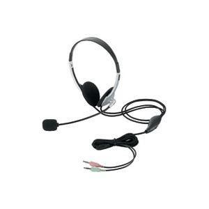 (業務用50セット) エレコム ELECOM ヘッドセット両耳オーバーヘッド HS-HP22SV|nijiiromarket