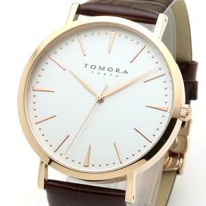 TOMORA TOKYO(トモラトウキョウ) 腕時計 日本製 T-1601-PWHBR|nijiiromarket