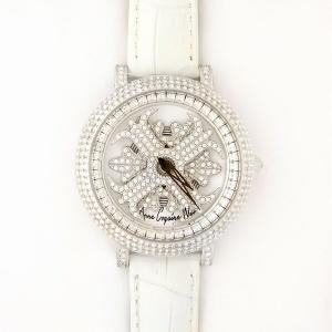アンコキーヌ ネオ 40mm バイカラー ミニクロス シルバーベゼル インナーベゼルクリアー ホワイトベルト アルバ 正規品(腕時計・グルグル時計)|nijiiromarket