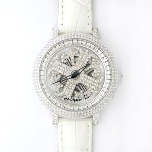 アンコキーヌ ネオ 40mm バイカラー ミニクロス シルバーベゼル インナーベゼルクリアー ホワイトベルト イール 正規品(腕時計・グルグル時計)|nijiiromarket