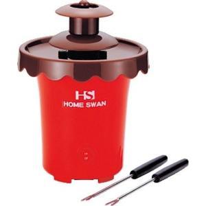 電池式 チョコレートファウンテン 〔約145mm×145mm×195mm〕 フォーク×2本付き 単2電池対応 『HOME SWAN』|nijiiromarket