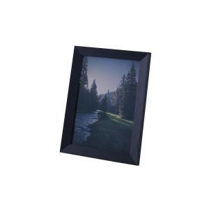 モダン フォトフレーム/写真立て 〔Lサイズ ブラック〕 幅26cm ガラス 〔リビング ダイニング 寝室 ベッドルーム〕|nijiiromarket