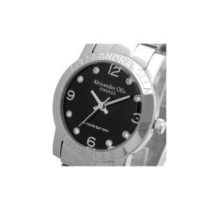 Alessandra Olla(アレサンドラオーラ)腕時計 ラウンドフェイス レディースウォッチ AO-711 ブラック|nijiiromarket