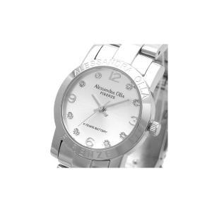Alessandra Olla(アレサンドラオーラ)腕時計 ラウンドフェイス レディースウォッチ AO-712 シルバー|nijiiromarket