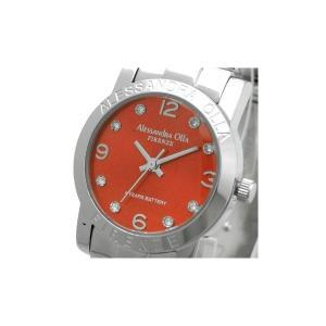 Alessandra Olla(アレサンドラオーラ)腕時計 ラウンドフェイス レディースウォッチ AO-713 レッド|nijiiromarket