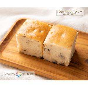 米粉100%の生地にオーガニックレーズンを混ぜ込んだパンです。  名称:プチオーガニックレーズンパン...