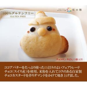 グルテンフリー パン 米粉パン チョコサンタぱん(1個入り)