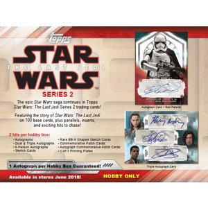 2018 TOPPS STAR WARS THE LAST JEDI SERIES 2 BOX|niki