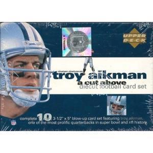 NFL 1997 UD TROY AIKMAN A CUT ABOVE DIECUT FOOTBALL CARD SET|niki
