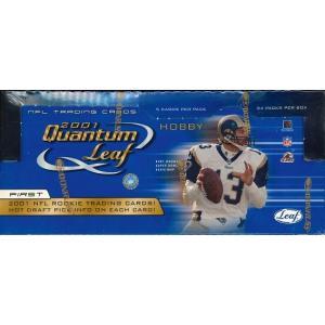 NFL 2001 LEAF QUANTUM LEAF FOOTBALL HOBBY BOX|niki