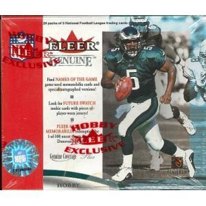 NFL 2001 FLEER GENUINE FOOTBALL HOBBY BOX|niki