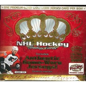 NHL 2001 CROWN ROYALE HOCKEY HOBBY BOX|niki