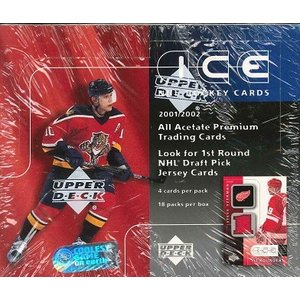NHL 2001/2002 UPPER DECK ICE HOCKEY HOBBY BOX|niki