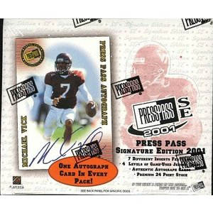 NFL 2001 PRESS PASS SIGNATURE EDITION BOX|niki