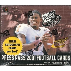 NFL 2001 PRESS PASS FOOTBALL BOX|niki