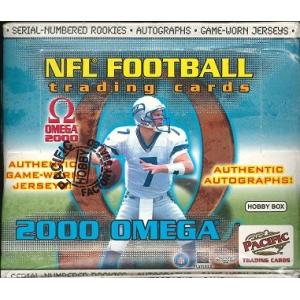 NFL 2000 PACIFIC OMEGA FOOTBALL HOBBY BOX|niki