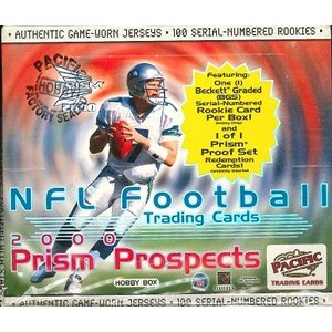 NFL 2000 PACIFIC PRIZM PROSPECTS FOOTBALL HOBBY BOX|niki