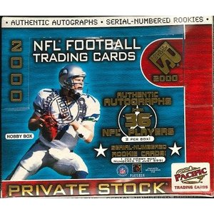 NFL 2000 PACIFIC PRIVATE STOCK FOOTBALL HOBBY BOX|niki