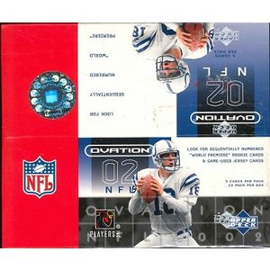 NFL 2002 UPPER DECK OVATION FOOTBALL HOBBY BOX|niki