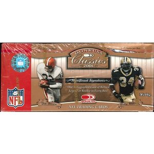 NFL 2001 DONRUSS CLASSIES FOOTBALL HOBBY BOX|niki