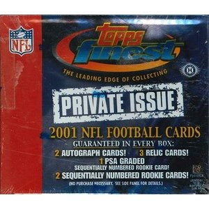 NFL 2001 TOPPS FINEST PRIVATE ISSUE FOOTBALL BOX|niki