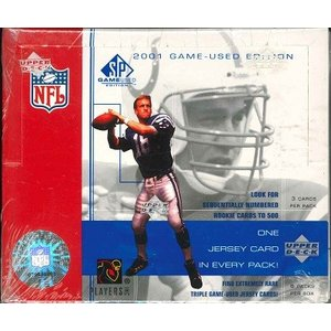 NFL 2001 UPPER DECK SP GAME USED BOX|niki